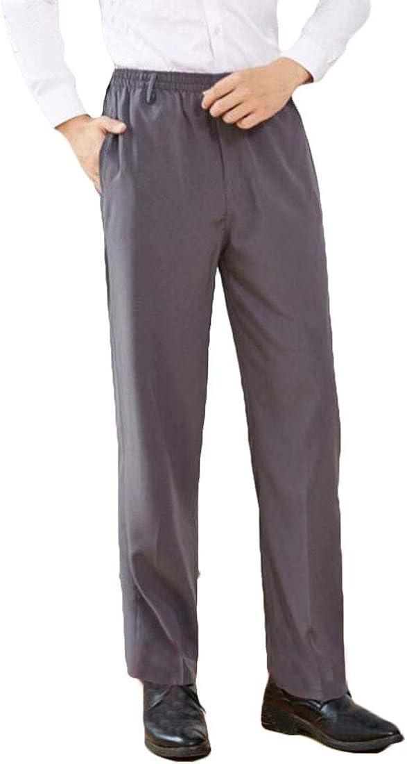 MU2M Men Business Pleated Non-Iron Blazer Casual Suit Pants