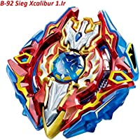Urcara Bey Burst Evolution Gyro Battling Top Beyblade Burst Starter B-92 Sieg Xcalibur 1.Ir Beyblades Set with Launcher Spinning Top