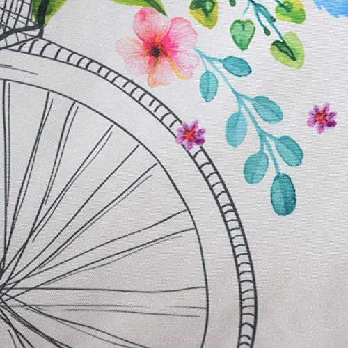 35x40 Bicicleta Bandolera Modelo friendly tela en Medida para multiusos Perfecta estandar cm flores a tote dia de de día Primavera eco Bolsa con w4ZAq
