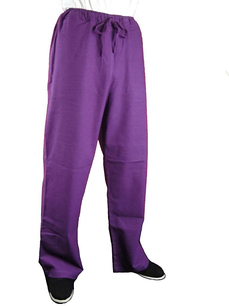 100% Cotton Purple Kung Fu Martial Arts Tai Chi Pant Trousers XS-XL or Tailor Custom Made + Free Magazine