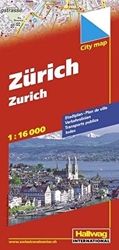 Hallwag Zurich City Map