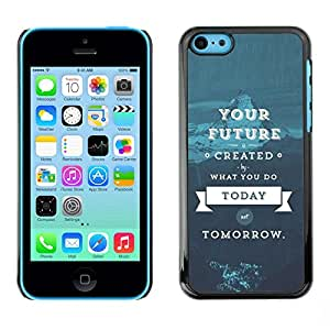 Impact Case Cover with Art Pattern Designs FOR iPhone 5Cs Quote Blue Text Betty shop