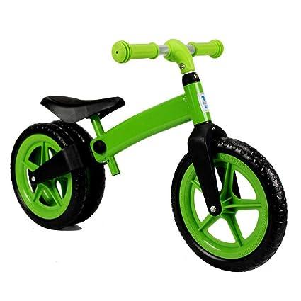 Easy-topbuy Bicicleta de Equilibrio para Niños Manillar Ajustable y Silla de Montar Rueda Trasera