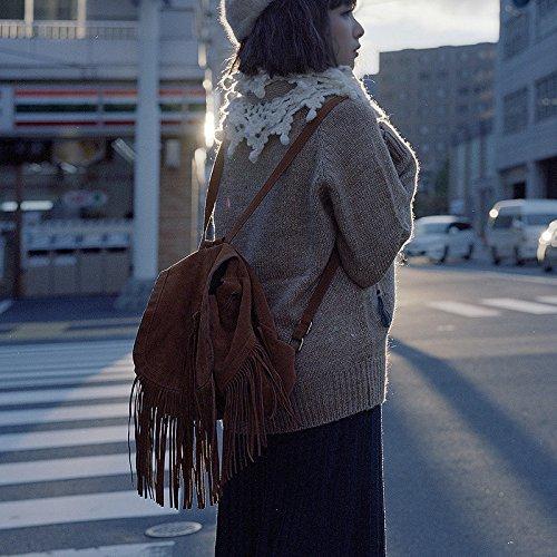 Bags Bandoulière Body Cross Frangé Tassel Mode De La Brown à Femmes Sac Des B5wRqPzx