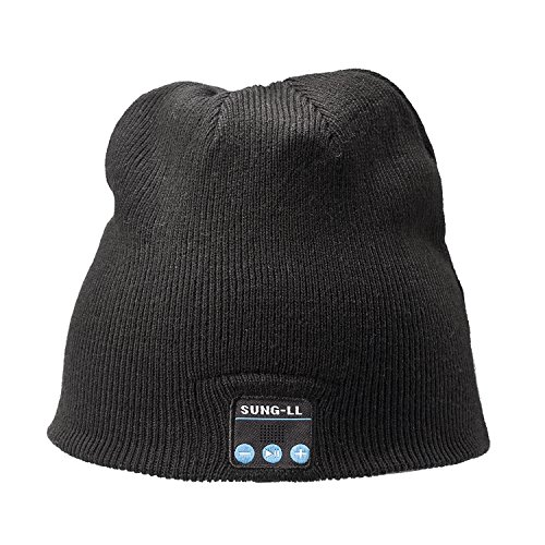 SUNG-LL Soft and Warm Hat Wireless Beanie with Smart Cap Speaker Micro Headphone