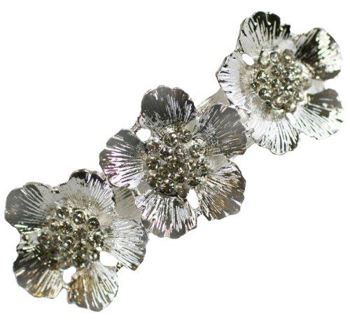 - Poppy Flower Hair Clip Rhinestone Vintage Bridal Wedding Accessories Poppies