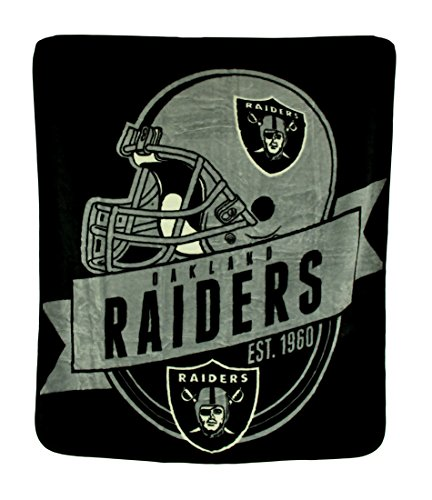 50x60 Royal Plush Blanket (Polyester Sports Fan Throw Blankets Nfl Royal Plush Raschel Throw Blanket 50 X 60 In. (Raiders) 60 X 50 X 1 Inches Silver Model # CWC-19262)