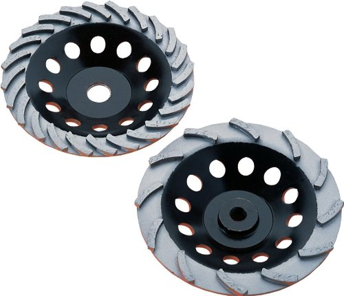 Diamond Products Core Cut 17943 4-Inch by 5//8-Inch 11 Heavy Duty Orange Spiral Turbo Cup Grinders with 10 Segments Builders World Wholesale Distribution
