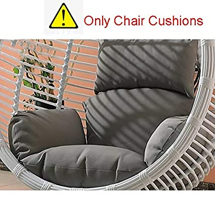 Sqinaa Hanging Egg Hammock Chair Cushions Without Stand Swing Seat Cushion Thick Nest Hanging Chair Back With Pillow I