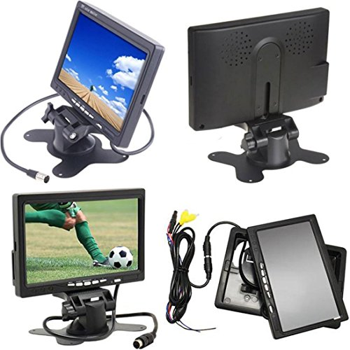 Dacawin Car Rearview monitor rearview backup camera system 7 TFT LCD Screen Night Vision (Black) by Dacawin (Image #5)