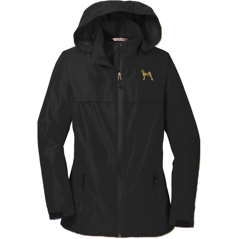 YourBreed Clothing Company Basenji Ladies Rain Jacket