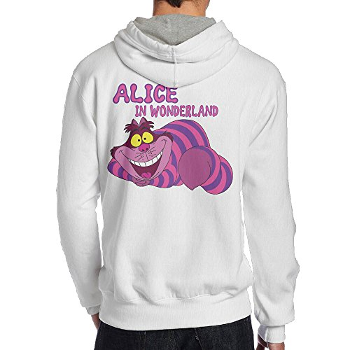 [UFBDJF20 Alice In Wonderland Fleece Hoodie For Men XXL White] (Edward Scissorhands Womens Halloween Costume)