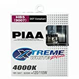 PIAA 19617 9007 (HB5) Xtreme White Plus High Performance Halogen Bulb, (Pack of 2)