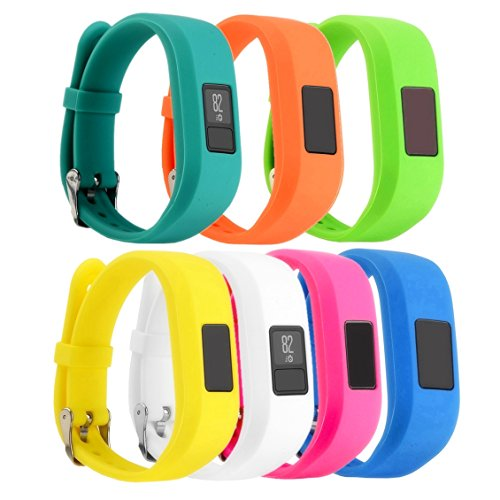 For Garmin Vivofit 3 and Vivofit JR, Dunfire Colorful Accessory Band/ Wristbands With Secure Watch-style Clasp For Garmin Vivofit 3 and Vivofit JR (7PCS - - Usps Tracking Options With Shipping
