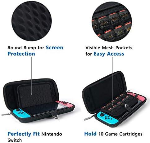 Bagsmart - Funda para Nintendo Switch negro Negro large: Amazon.es: Videojuegos