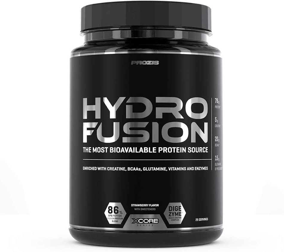 XCore Hydro Fusion Proteína de Suero de Leche en Polvo 900g - Suplemento para el Crecimiento del Músculo y la Recuperación - Con el Mejor Sabor a ...