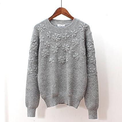 SZYL Sweater Bodenbildung Damen Pullover für den Herbst