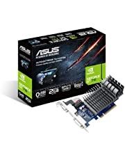 ASUS 710-2-SL GeForce GT 710 2 GB DDR3 Low Profile Graphics Card for Silent HTPC Build, Black