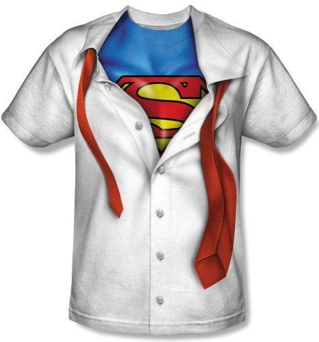I'm Superman Tie Costume Logo T-Shirt 3XL White
