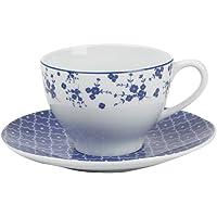 Porland Blue Passion Tabaklı Çay Fincanı 210cc, Porselen