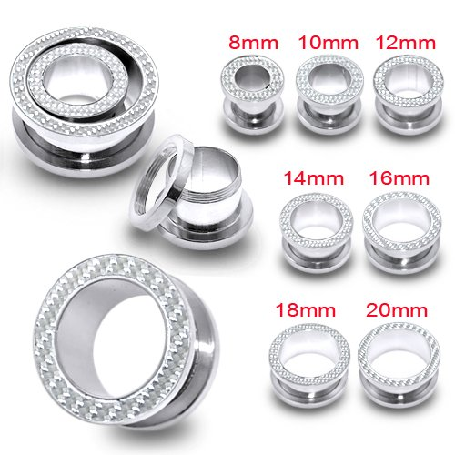 14MM Surgical Steel Fit Flesh Tunnel Body jewelry by Tunnel-Plug-Taper (Image #2)