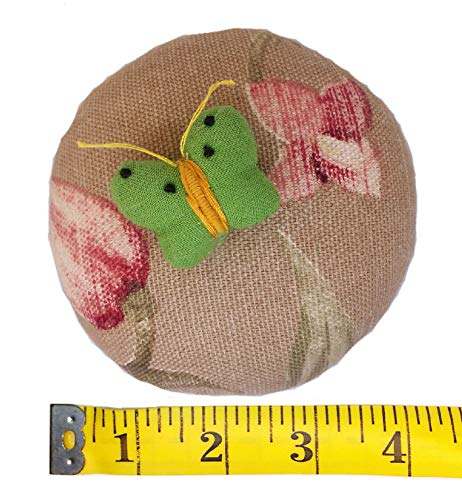 PeavyTailor 10 oz Emery Pin Cushion and Fabric Pattern Cloth/Fabric Weight - Butterfly Green