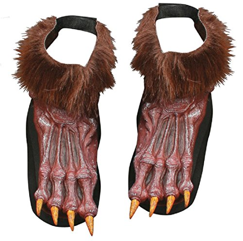 [Werewolf Shoe Covers Costume Accessory] (Wolf Costume Halloween Express)