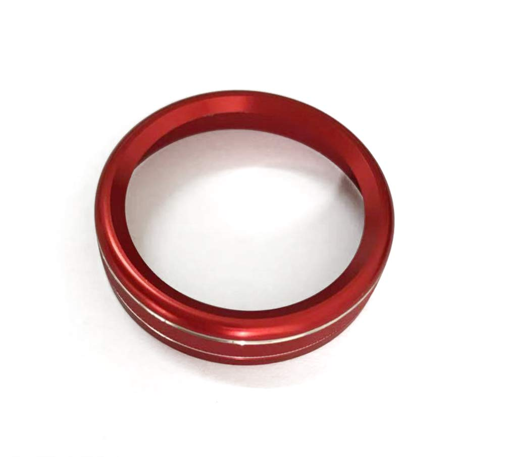 4WD Four Wheel Drive Switch Konb Button Ring Cover For Ford F150 XLT 2016-2017 (Red) KUJOOY