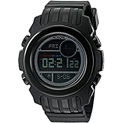Nixon Men's 'Super Unit SW, Vader' Japanese Automatic Rubber and Silicone Casual Watch, Color:Black (Model: A921SW-2244-00)