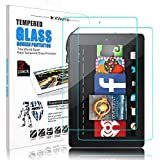 [ 2 Pack ] DONWELL Kindle Fire 7 Tablet Screen Protector Tempered Glass Bubble Free Anti Scratch Protective Cover Film for All Amazon Fire HD 7 7th Generation 2017 Release