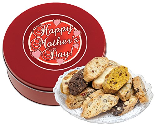MOTHERS DAY BISCOTTI TIN 1 LB (FRESH, ASSORTED)