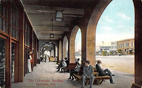 Postcard The Colonnade Pavilion in Redondo, - Map Colonnades