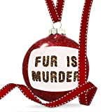 Christmas Decoration Fur Is Murder Cheetah Cat Animal Print Ornament
