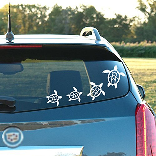 Decals Turtle Window (Sea Turtle Variety Pack – 7 Toal , vinyl decal - for windows, cars, trucks, tool boxes, laptops and tablets)