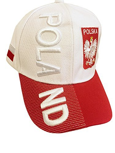 963f1254d5f2d4 Baseball Caps Hats with Five 3D Embroideries – Countries of Europe (Country:  Poland -