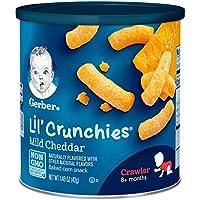 Gerber se gradúa con crujientes de Lil, queso cheddar suave, botes de 1.48 onzas (paquete de 6)