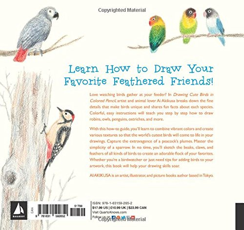 Buy Drawing Cute Birds In Colored Pencil Book Online At Low
