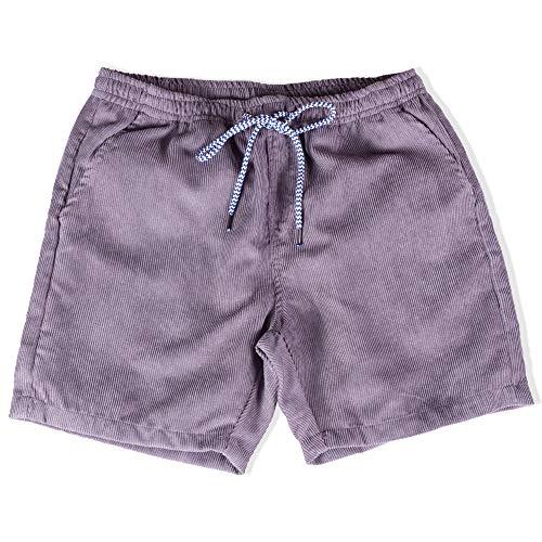 Visive Shorts for Men Elastic Waist Corduroy Drawstring Basic Essentials Short Large Grey