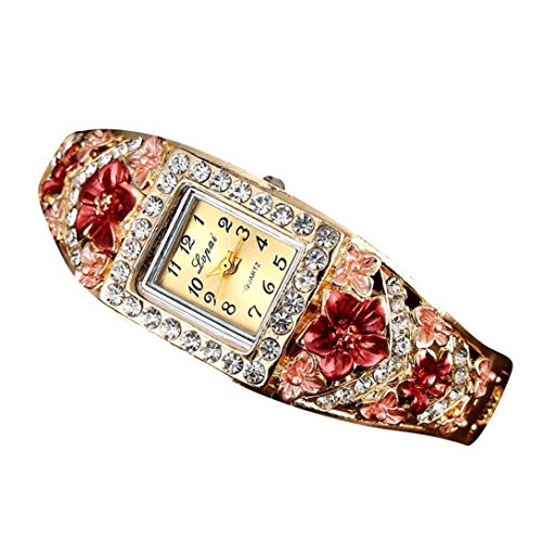 Price comparison product image Women's Watch,FUNIC Hot Sale Fashion Luxury Bracelet Watches (Red)