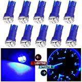 honda 1993 accord parts - CCIYU 10 Pack Blue T5 Wedge 3-3014 SMD LED Dash Instrument Gauge Light Bulbs 37 70 73 74