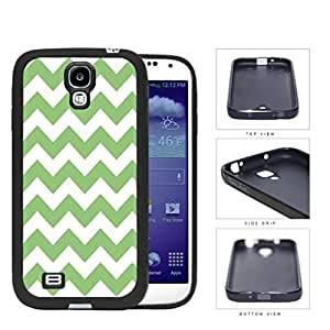 Chevron Design Pattern In Mint Green Rubber Silicone TPU Cell Phone Case Samsung Galaxy S4 SIV I9500