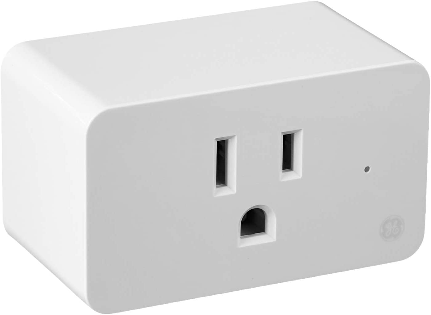 GE Lighting 93103491 C by GE On/Off Smart Plug, White, Works with Alexa and Google Assistant, WiFi Enabled, No Hub Required
