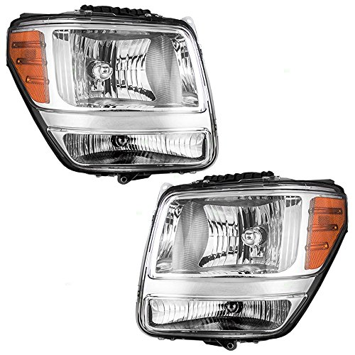 Driver and Passenger Headlights Headlamps Replacement for Dodge SUV 55157225AD 55157224AD ()