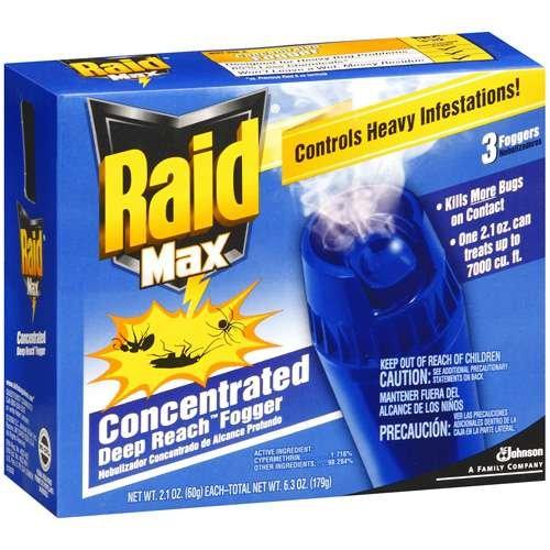 Raid Max 3 Deep Reach Concentrated Foggers, 2.1 Oz ()