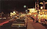 night at the museum free - Long Beach Washington street scene at night Marsh's Free Museum vintage pc Z8755