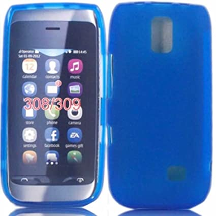reputable site dd6f7 6b28f Gel Case Cover Skin For Nokia Asha 308 309 / Blue: Amazon.ca: Cell ...