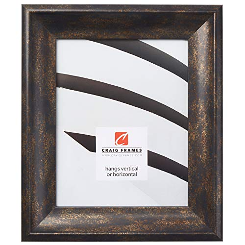 Craig Frames Marcello, Antique Black and Copper Picture Frame, 24 x 36 Inch