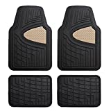 FH Group F11311BEIGE Rubber Floor Mat(Heavy Duty Tall Channel, Beige Full Set Trim to Fit)