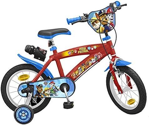 TOIMS Paw Patrol Bicicleta de Niño, tamaño 12 Pulgadas: Amazon.es ...