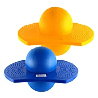 HOMYL 2PCS Kids Indoor & Outdoor Space Hopper Balance Board Jumping Bouncy Pogo Ball Playground Sports Exercise Fitness Toy
